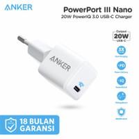 Anker Powerport III Nano - Wall Charger 20W PD - A2633 - Garansi Resmi