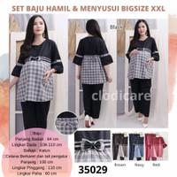 CM 28 Baju Setelan Panjang Set Hamil Menyusui BigSize Jumbo XXL LD 110