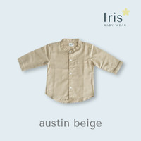 Baju Koko Anak - Iris Babywear - Austin Shirt - Beige