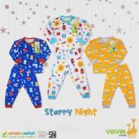 baju tidur piyama panjang velvet junior M L XL XXL 4 5 6 7 anak bayi