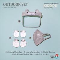 Ichigo Outdoor Set Face Shield & Mask Masker Baby / Kids