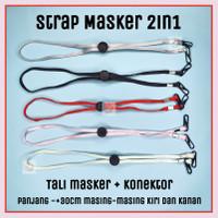 Strap Masker Korea Tali Masker 2 fungsi konektor hijab headloop polos