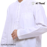 Baju Koko Al Thaaf Koko Katun Tangan Panjang Putih - 0169 - Baju Musli - S