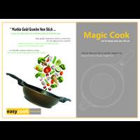 EASYCOOK Magic Cook Coffee 30 cm - Deep Fry Wok Pan Non Stick
