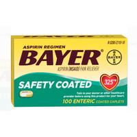 Bayer Aspirin Regimen Safety Coated 325mg 100 cap product Spain