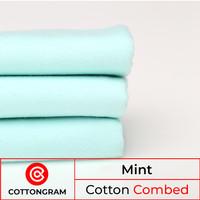 Kain kaos bahan kaos katun cotton combed 24s & 30s warna muda 1/2 Kg - Mint, 24s