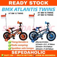 Sepeda Anak Laki 12 16 18 BMX Atlantis Twins Ban Jumbo Usia 2-10 Tahun