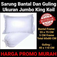 Sarung Bantal Guling Ukuran Jumbo King Koil Katun Micro Polos Promo