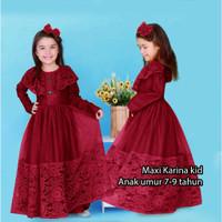 baju gamis anak anak pesta mewah maxi maxy kids perempuan cewek