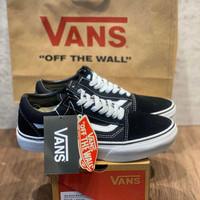 Sepatu Sneakers Vans Old Skool Black White EVB Unisex