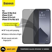 BASEUS IPHONE 12 MINI PRO MAX TEMPERED GLASS ANTI GORES PRIVACY SPY - 12 MINI 5.4, ANTI SPY