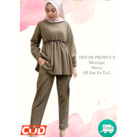 Baju Wanita Poppy Set Fashion Wanita Lengan Panjang + Celana Murah Ter