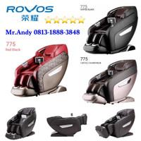 KURSI PIJAT ROVOS R 775W 3 Dimensi Massage Chair ORIGINAL Coffee Gold