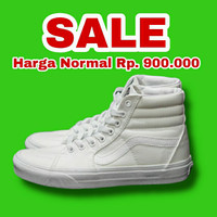 Sepatu Vans Sk8-Hi True White Classic Original Murah