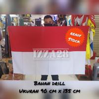 bendera merah putih bahan drill ukuran 90 x 135 cm