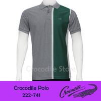 Kaos Kerah Polo Slim Fit Pria Crocodile 222-741 - Hijau, M