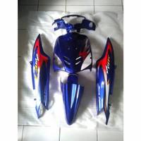 full body halus Mio sporty biru striping mx