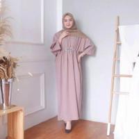 Baju muslim wanita kaftan maria dress maxi lebaran