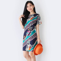 Baju Batik Wanita - Dress Batik Cewek Modern 038 GTW