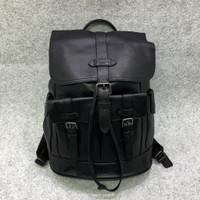 COACH Men's Hudson Leather Backpack ransel ORIGINAL FO ORI AUTHENTIC