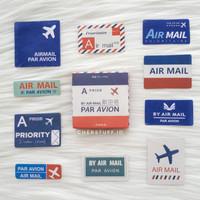 sticker deco box par avion (44-46pcs)