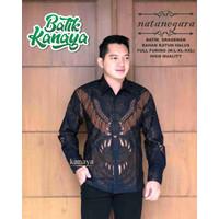 NATANEGARA Kemeja Batik Pria Lengan Panjang Full Furing Katun Halus