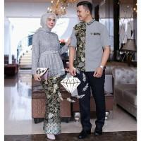 Baju Couple Batik Pasangan Muslim Terbaru Couple Sherina Kebaya Batik