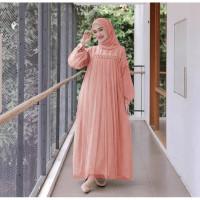 Baju Gamis Wanita Terbaru / Gamis Murah Renda Premium / Maxi Nuraini