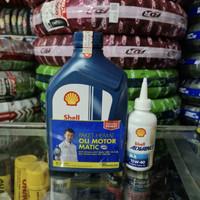 Oli Shell Advance AX7 Matic 10W/30 0.8L + Oli Gardan Shell 120 ml
