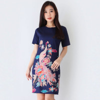 Baju Batik Wanita - Dress Batik Fashion Cewek Modern Gloo