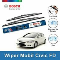 Wifer Original BOSCH Honda Civic FD Karet Wiper Kaca Depan Mobil 2pcs