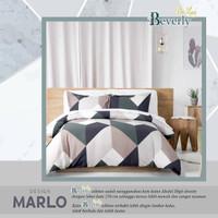 Set Bedcover katun lokal motif Marlo ukuran 200x200