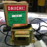 trafo step down dan up 100watt Transformer merk DAICHI