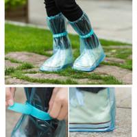 Cover Sarung Sepatu Anti Air Pelindung Hujan Motor Transparan - Pink - M