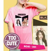 Kaos/baju anak BLackPink - ROSE- 001 (size anak 1 - 10 Tahun)
