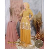 Baju Lebaran Gamis Brokat Size L XL XXL Kondangan Dress Muslim Safira