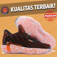 Sepatu Basket Sneakers Adidas Dame 7 2K Day Black Red White HITAM