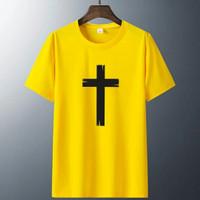 Baju Rohani Salib Kayu / Kaos Rohani Kristen / Kaos Cotton Combed 30s