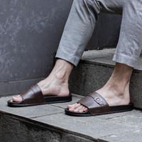 Sendal Slop Pria Cogen Rubber - Leather Djani Series Cowok Copenhagen