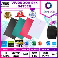 ASUS VIVOBOOK S14 S433EQ - i5 1135G7 8GB 512ssd MX350 2GB W10+OFFICE