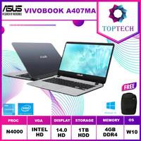 Asus A407ma BV001t BV002t Celeron N4000 4GB 1TB Win10