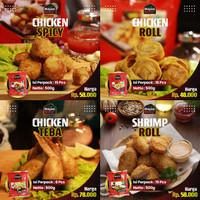 Chicken Roll | Shrimp Roll | Chicken Teba | Chicken Spicy Frozen Bento
