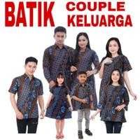 Baju Batik Couple Keluarga Set Anak / Seragam Batik Keluarga Sarimbit