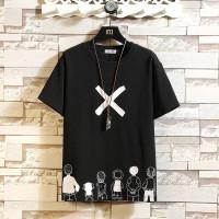 CJ7QS-(COD)Kaos Pria Baju ROGER Lengan Pendek-Bahan Baby Terry