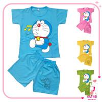 Baju Anak Setelan Anak Perempuan Unisex Doraemon 0 - 4 Tahun