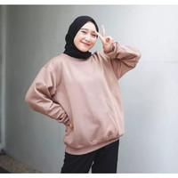 Sweater Wanita Polos Basic Oblong Switer Sweeter Sweter Cewek Premium