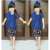 Setelan Baju Brukat Kebaya Anak Perempuan Cewek All Size Umur 2-4 th