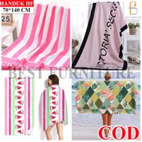 Best Furniture Handuk Mandi Polos Dewasa Anak uk 70x140 - RANDOM