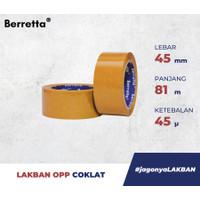 LAKBAN BERRETTA 2 INCH (45MM) X 81 METER - Cokelat