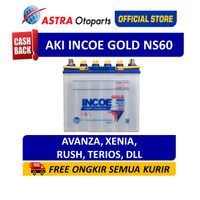 Aki INCOE GOLD NS60 - Aki Mobil untuk mobil Avanza, Rush, Xenia, Terio